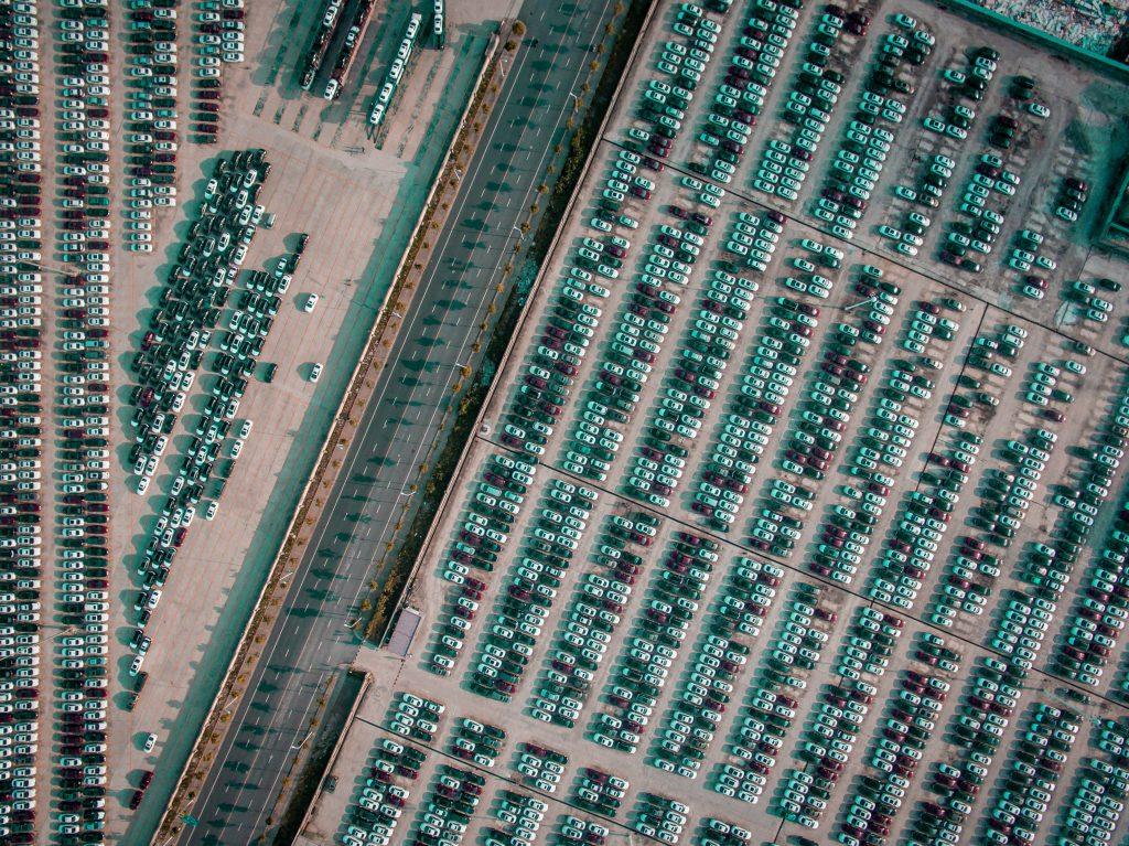 Parkplätze von oben