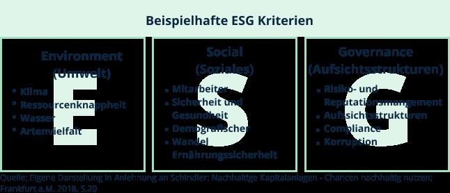 Beispiel ESG Kriterien