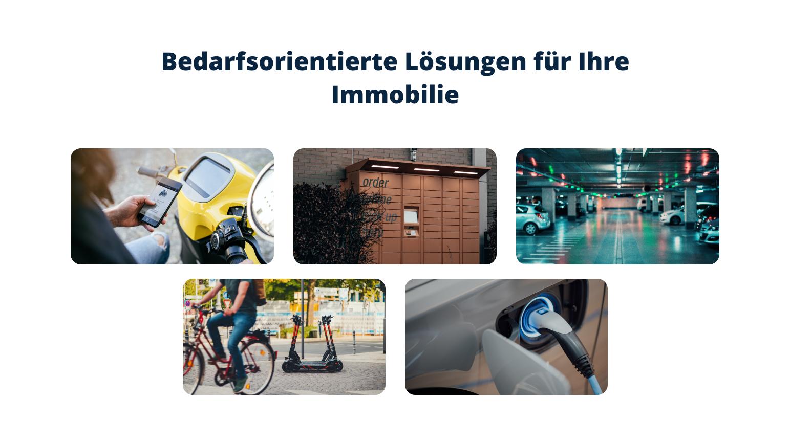 Verschiedene Mobilitätsscenarien